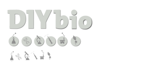 diybio logo and icons grayscale