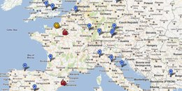 Local DIYbio Map Europe Oct 2011